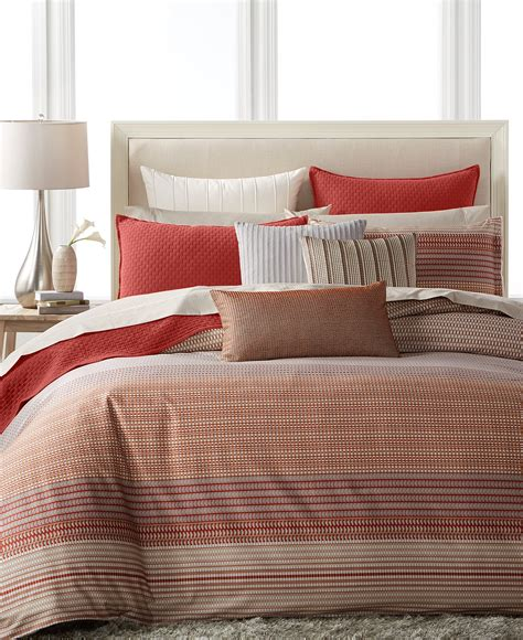 macy s hotel collection bedding hotel collection modern geo stripe bedding collection