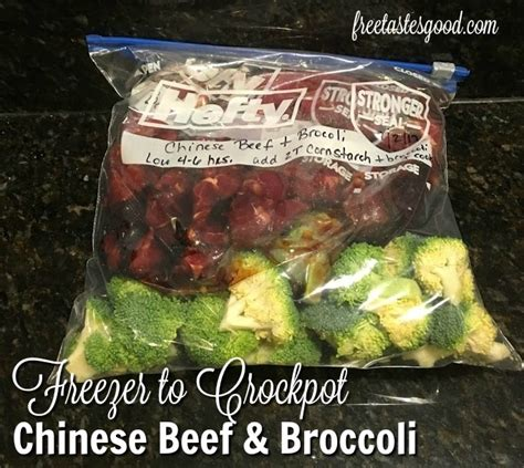 crock pot freezer meals chinese beef and broccoli freezer to crockpot chinese beef and broccoli recipe