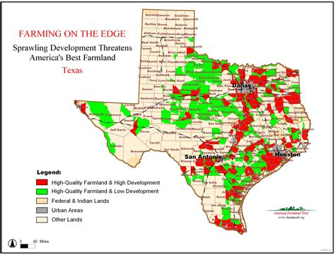 texas agriculture map farming on the edge american farmland trust
