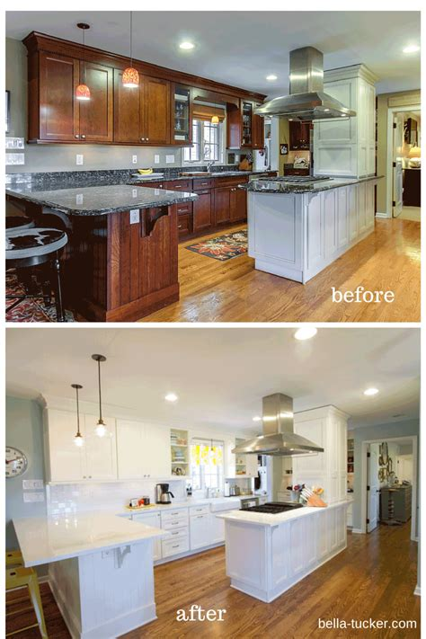 before and after white kitchen cabinets painted cabinets nashville tn before and after photos