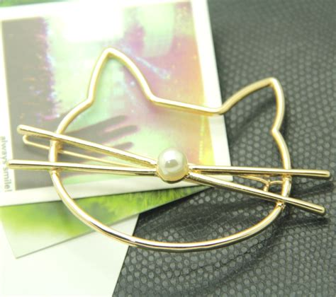 Cat Hair Pin dainty cat hair clip meowingtons
