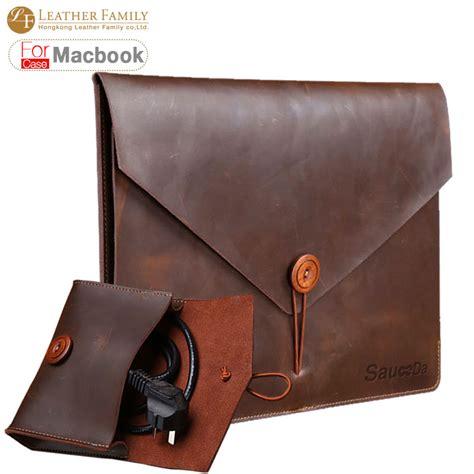 Casing Original Sleeve Leather For Macbook Laptop 11 Inch for macbook pro 13 original retro genuine cow leather bag for macbook air 11 12 9 15 4inch