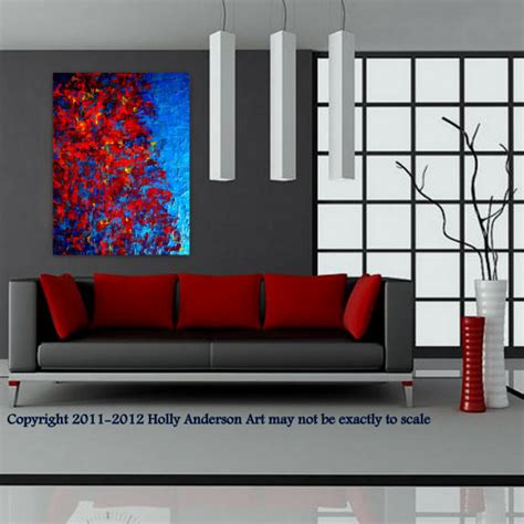 contemporary abstract painting for modern spaces quot autumn at quot modern living room
