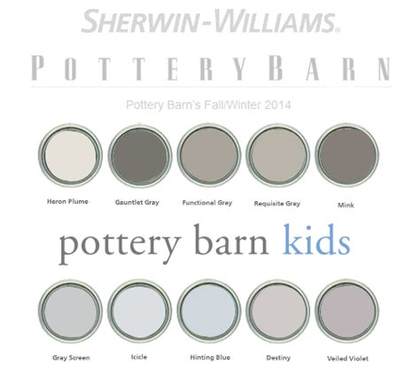 pottery barn paint colors 2014