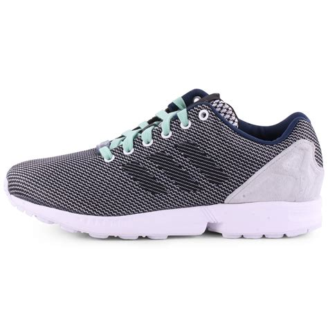 adidas zx flux patterned trainers adidas zx flux weave mens trainers in black grey