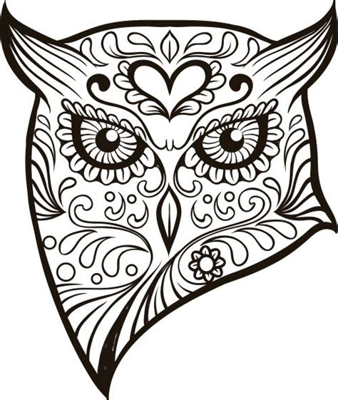 Day Of The Dead Owl Coloring Pages | free coloring pages of f the dead skull