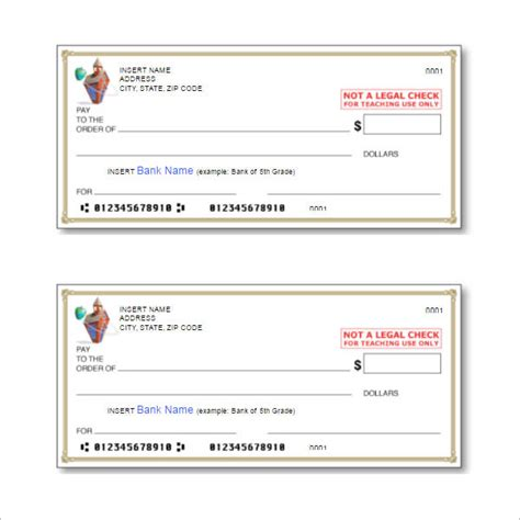 43 Cheque Templates Free Word Excel Psd Pdf Formats Bank Check Template