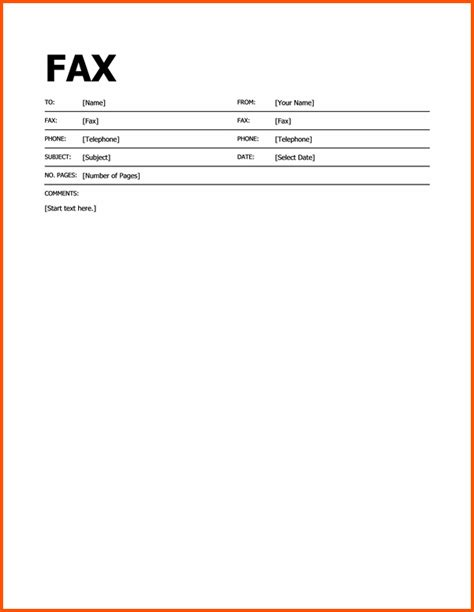 fax template in word printable fax cover letter template