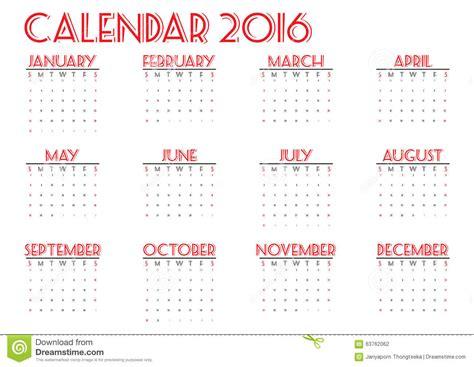 new year 2016 2 weeks calendar 2016 new year on white background week start
