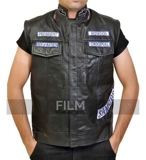 biker jacket vest sons of anarchy jax teller biker vest with patches