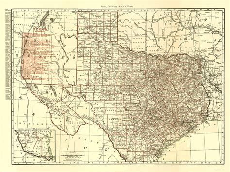 rand mcnally map of texas railroad maps texas state railroad tx by rand mcnally 1900
