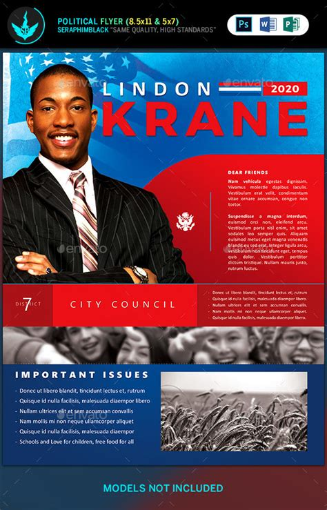 political candidate flyer template  seraphimblack