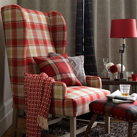home decor uk decorating with checks tartans decorating ideal home