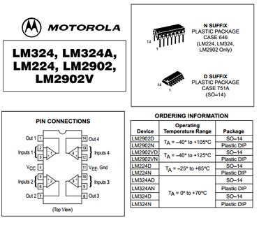 Lm324 Chip lm324n datasheet operational lifier motorola