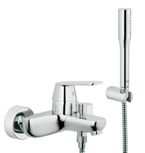 wall mounted bath shower mixer tap grohe eurosmart cosmo wall mounted bath shower mixer tap with kit 32832000