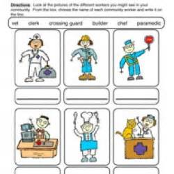 community helpers worksheets for kindergarten community