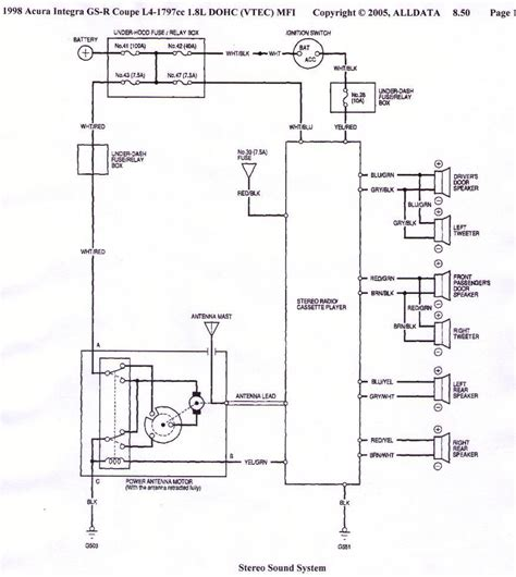 wonderful 1990 acura integra radio wiring diagram 3