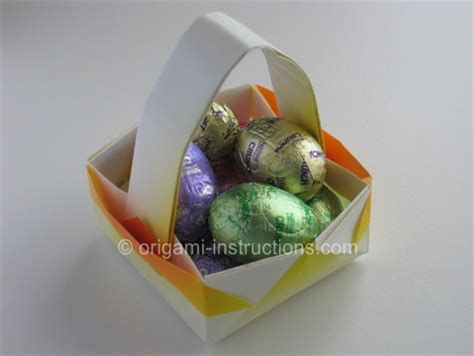 Origami Easter Basket - origami basket easter craft origami basket folding