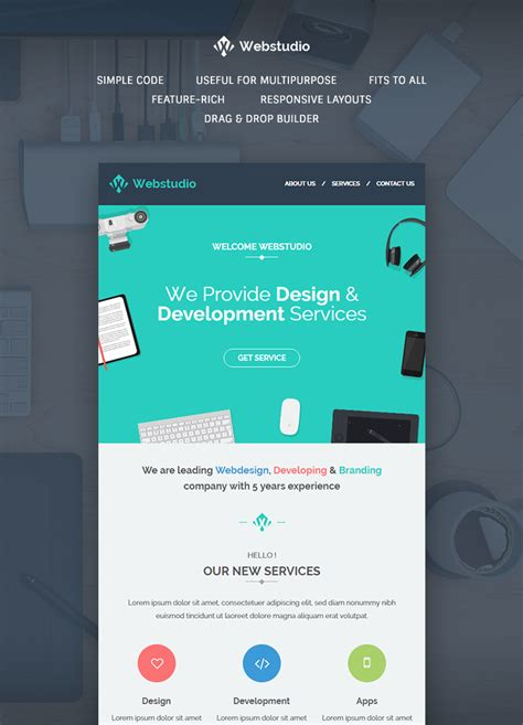 electronic newsletter templates webstudio e newsletter template buy premium webstudio e