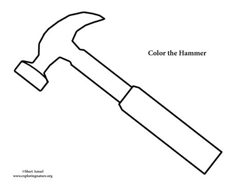 Coloring Page Hammer by Hammer Coloring Page
