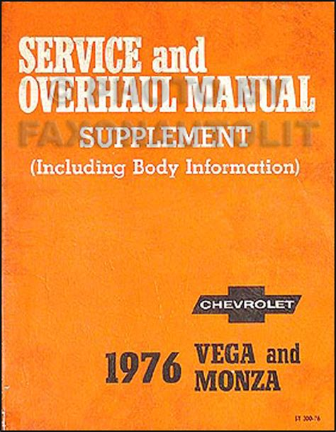 auto repair manual free download 1975 chevrolet monza electronic toll collection 1975 1976 chevrolet cosworth vega repair shop manual reprint supplement