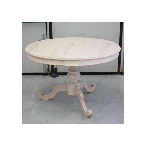tavolo rotondo grezzo allungabile gamba centrale country