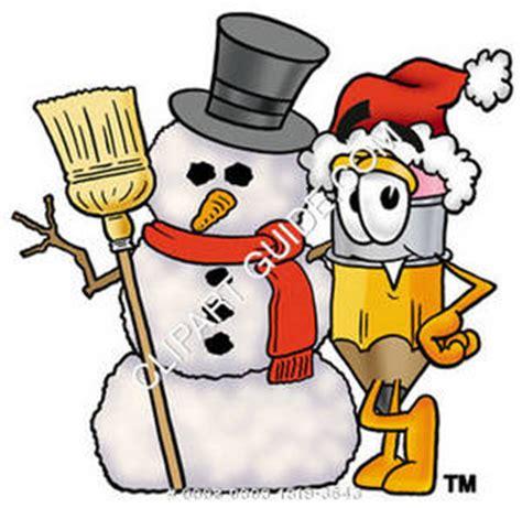 clipart cartoon pencil character wearing santa hat with