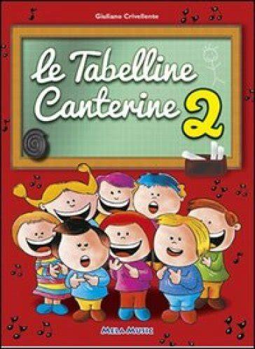 tabelline canterine testi le tabelline canterine con cd audio 2 giuliano