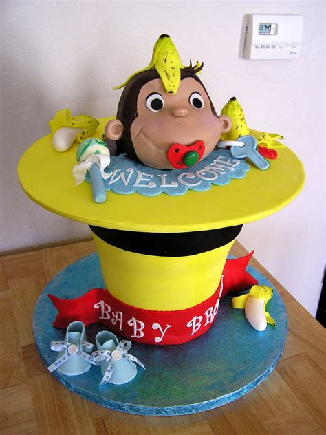 Curious George Cake Decorations by Pin Curious George Cake By Elisas Sweet Cakes