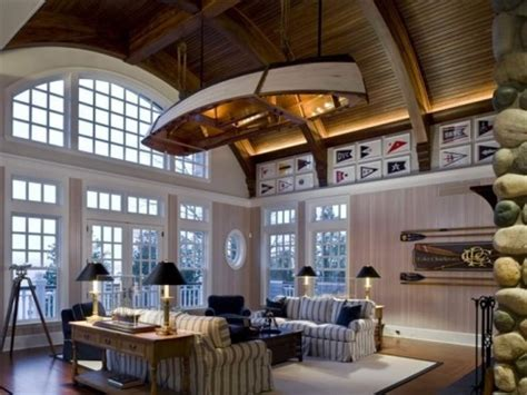 Hanging Canoe From Ceiling by Lake Charlevoix Luxe The Stuff Guide