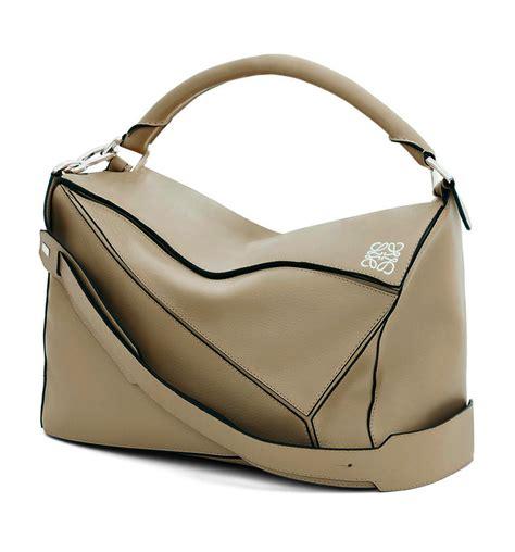 lowe bags loewe puzzle medium leather bag in lyst