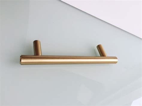 3 european drawer pull t bar brass cabinet knobs
