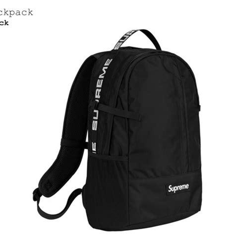 supreme backpack supreme backpack ss18 black bags strictlypreme