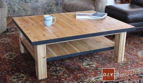 How To Build A Simple Coffee Table How To Make A Wood Coffee Table With Steel Accents