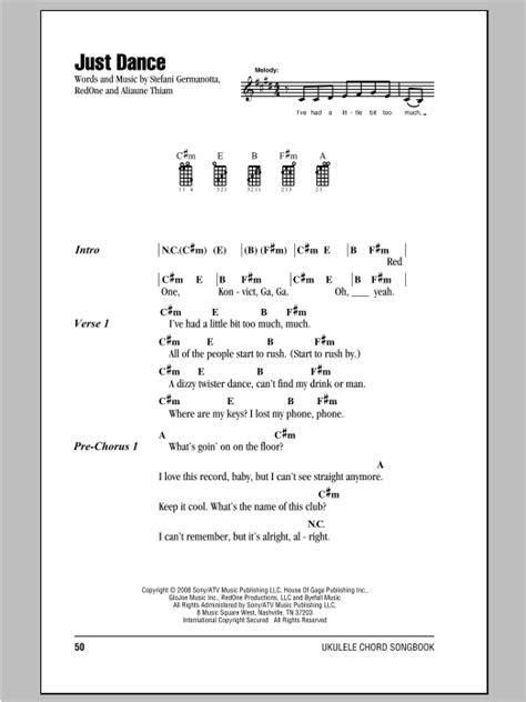 strumming pattern shut up and dance tablature guitare just dance de lady gaga ukulele