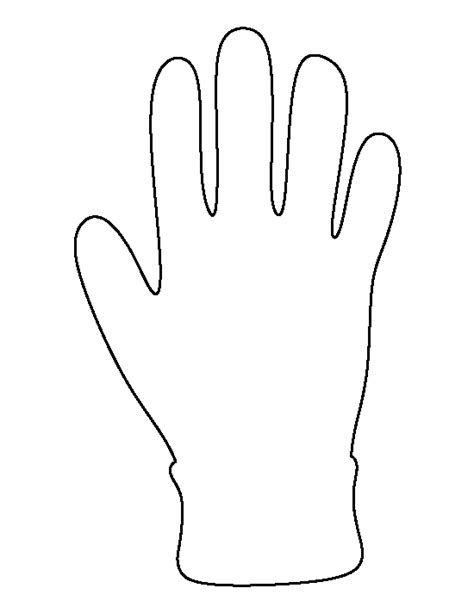 white glove pattern glove pattern use the printable outline for crafts