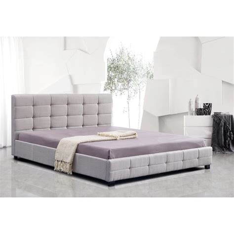 Palermo Bed Frame Palermo King Size Linen Deluxe Bed Frame In Beige Buy King Size Bed Frame
