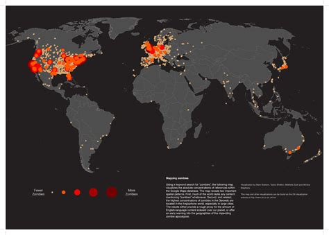 zombies maps the map of the world news the guardian