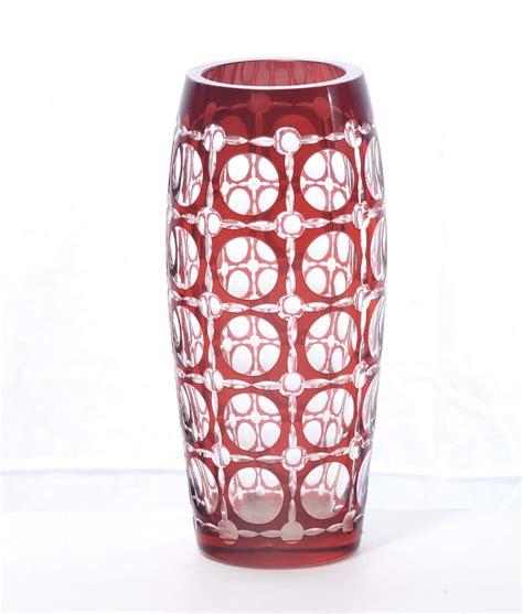 vaso di cristallo vaso in cristallo di boemia antiquariato e dipinti