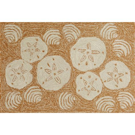 Shell Rugs by Shell Toss Indoor Out Door Rug