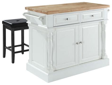 kitchen island cart with stools kitchen island with square seat stools in whi