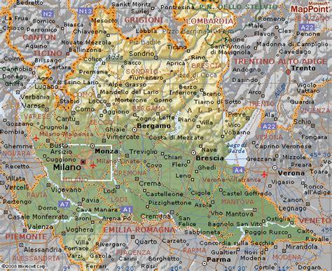 in regione si trova pavia cartina geografica di lombardia