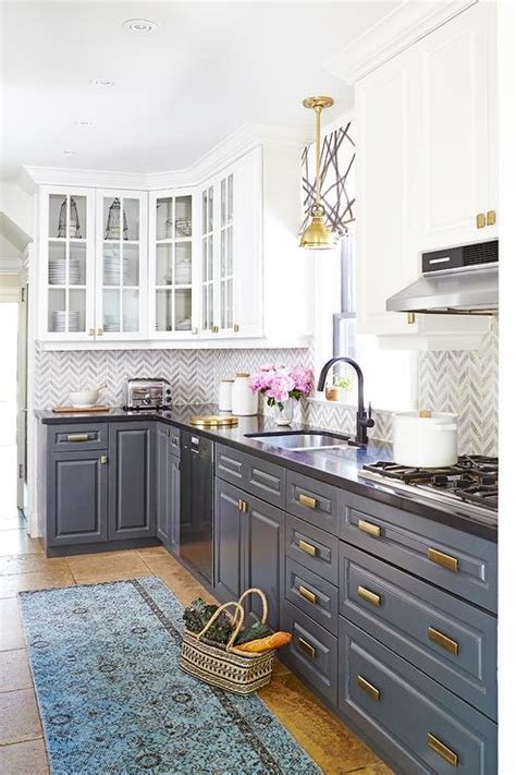 kitchen cabinets white top black bottom black bottom and white top kitchen cabinets white upper