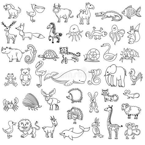 doodle draw animals le dessin des enfants d animaux de griffonnage