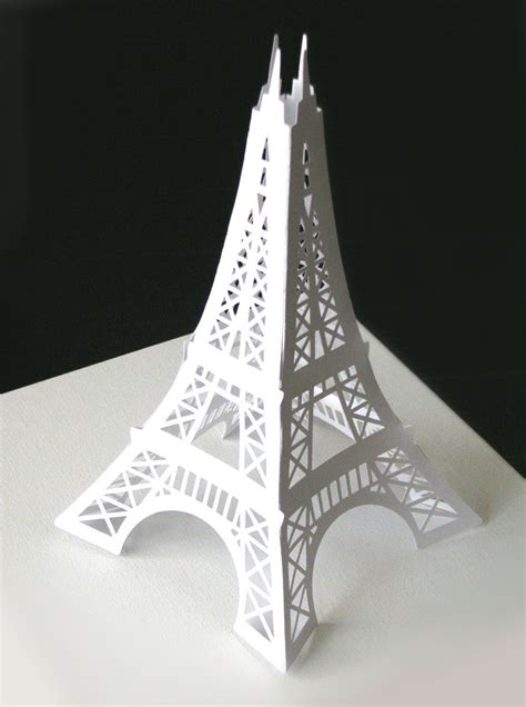 sale eiffel tower 12 inches paper die cut decoration for your