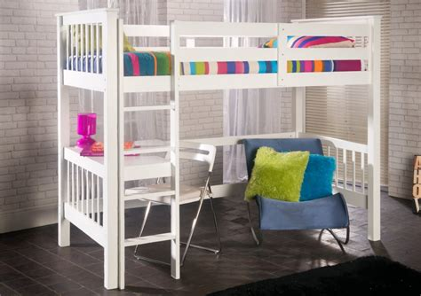 bunk beds with desks under them limelight pavo study bunk painted wood wooden beds beds