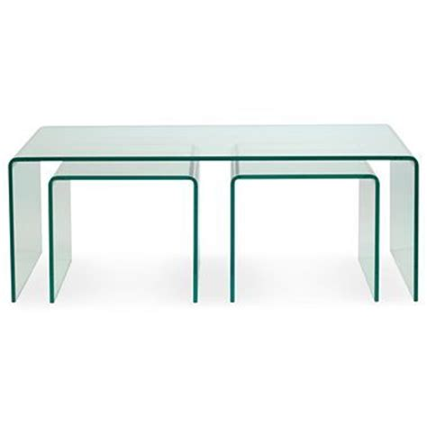 Jcpenney Table Ls Sale by 3 Pc Nesting Glass Table Set Nest Of Tables