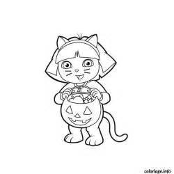 coloriage dora halloween jecolorie