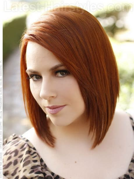 hairdos for type of faces red medium length hairstyles