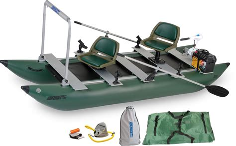 inflatable pontoon boat prices sea eagle 375fc 2 person inflatable fishing boats package